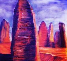 Monuments Of The Sand by MikesArt