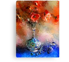 Poppies and Glass Marbles Canvas Print