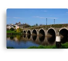 The Bridge at Goresbridge, County Kilkenny, Ireland Canvas Print