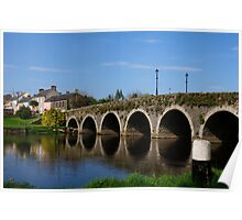 The Bridge at Goresbridge, County Kilkenny, Ireland Poster