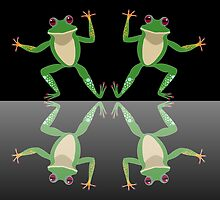 HAPPY DANCE BY FINGERS & TOES FROGS by Jean Gregory  Evans