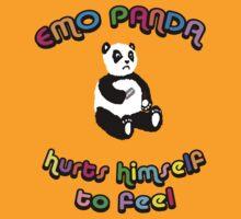 Emo Panda Hurts Himself To Feel by Raz Solo
