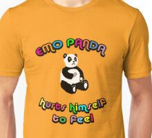 Emo Panda Hurts Himself To Feel Unisex T-Shirt
