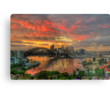 Oh What a Beautiful Morning - Moods Of A City,Sydney Australia - The HDR Experience Metal Print