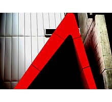 Urban Red Triangle Photographic Print