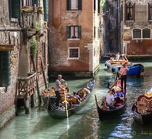 ...traffic jam in Venice.. by John44