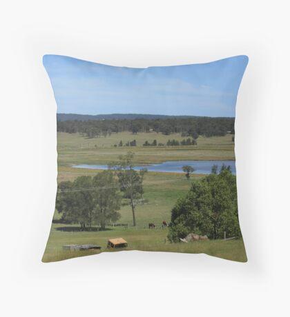 Hunter Valley Farmlands Throw Pillow
