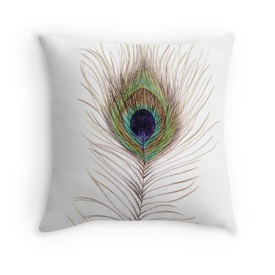 Decorative Pillows Feather :