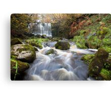 Scale Haw Waterfall - Hebden Canvas Print