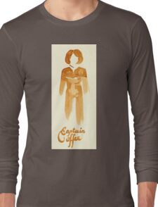 Captain Coffee - Coffee Wash Long Sleeve T-Shirt