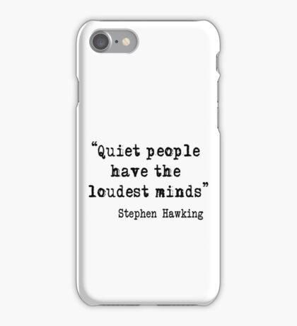 Quiet People iPhone Case/Skin