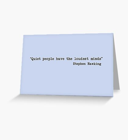 Quiet People Greeting Card