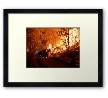 Driving into the Wildfire Framed Print