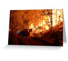 Driving into the Wildfire Greeting Card