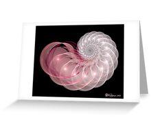 Pink Nautilus Greeting Card