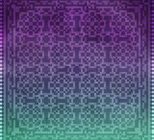 Pixel Pattern Green/Purple by likelikes