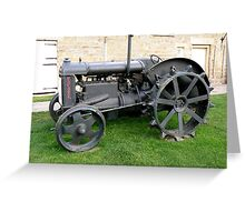 1940's Fordson Tractor Greeting Card