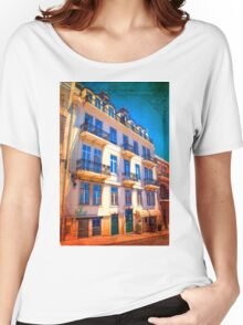 fachada pombalina. 18th century architecture. lisbon Women's Relaxed Fit T-Shirt