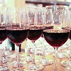 Red wine in glasses by adpixels