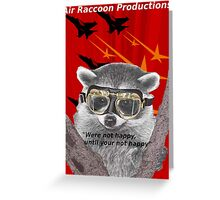 Air Raccoon Productions Greeting Card