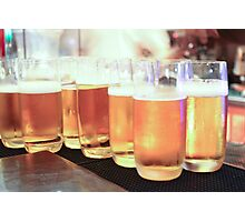 Beer in Glasses Photographic Print