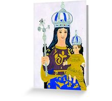 An Acrylic painting of Our Lady of Europa, Gibraltar Greeting Card