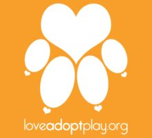 love paw (white) - loveadoptplay.org by hourevolution