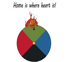 Calcifer - Home is where heart is Photographic Print