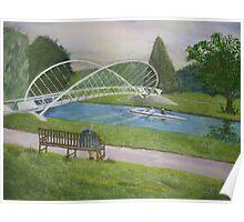 Bedford Butterfly Bridge Poster