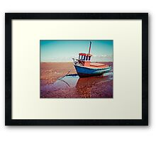 Fishing boat, Meols, Wirral Framed Print