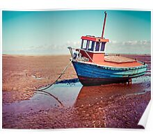 Fishing boat, Meols, Wirral Poster
