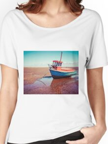 Fishing boat, Meols, Wirral Women's Relaxed Fit T-Shirt