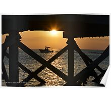 Under The Boardwalk Sunset | Mt. Sinai, New York  Poster