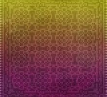 Pixel Patterns - Yellow/Magenta by likelikes