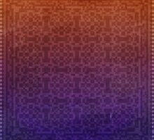 Pixel Pattern Orange/Blue by likelikes