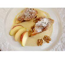 Apfelstrudel with Walnut and Cinnamon-Vanilla-Cream Photographic Print