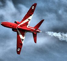 Red Arrows Hawk Displaying Over Portsmouth by Mark Sabanathan