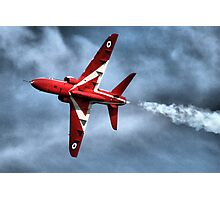 Red Arrows Hawk Displaying Over Portsmouth Photographic Print