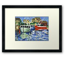 Peggy's Cove 3 Fisherman Framed Print