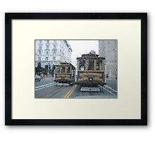 Trolley Raindrops Framed Print