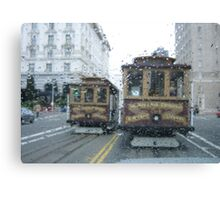 Trolley Raindrops Canvas Print