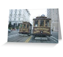 Trolley Raindrops Greeting Card