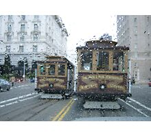 Trolley Raindrops Photographic Print