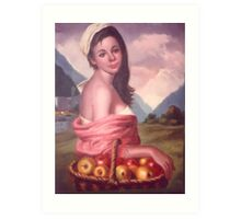 Country Girl Art Print