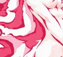 Hanekawa and white tiger Sticker
