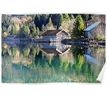 Lake Walchensee Reflections Poster