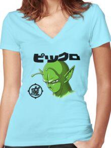 ピッコロ Piccolo Women's Fitted V-Neck T-Shirt