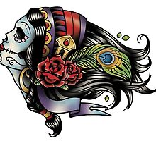 Day of the Dead Sugar Skull by retroburp