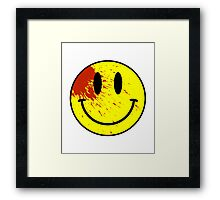 Acid House Smiley Face - Bloodied Framed Print