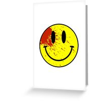 Acid House Smiley Face - Bloodied Greeting Card